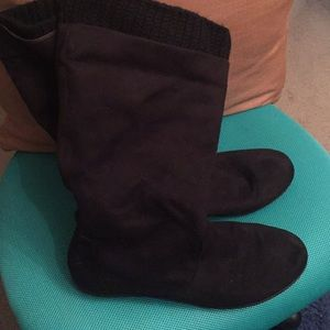 Black Scrunch Boots Good Used Condition